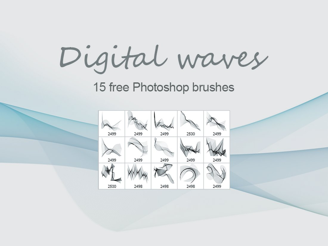 Digital Waves - Free PhotoShop brushes