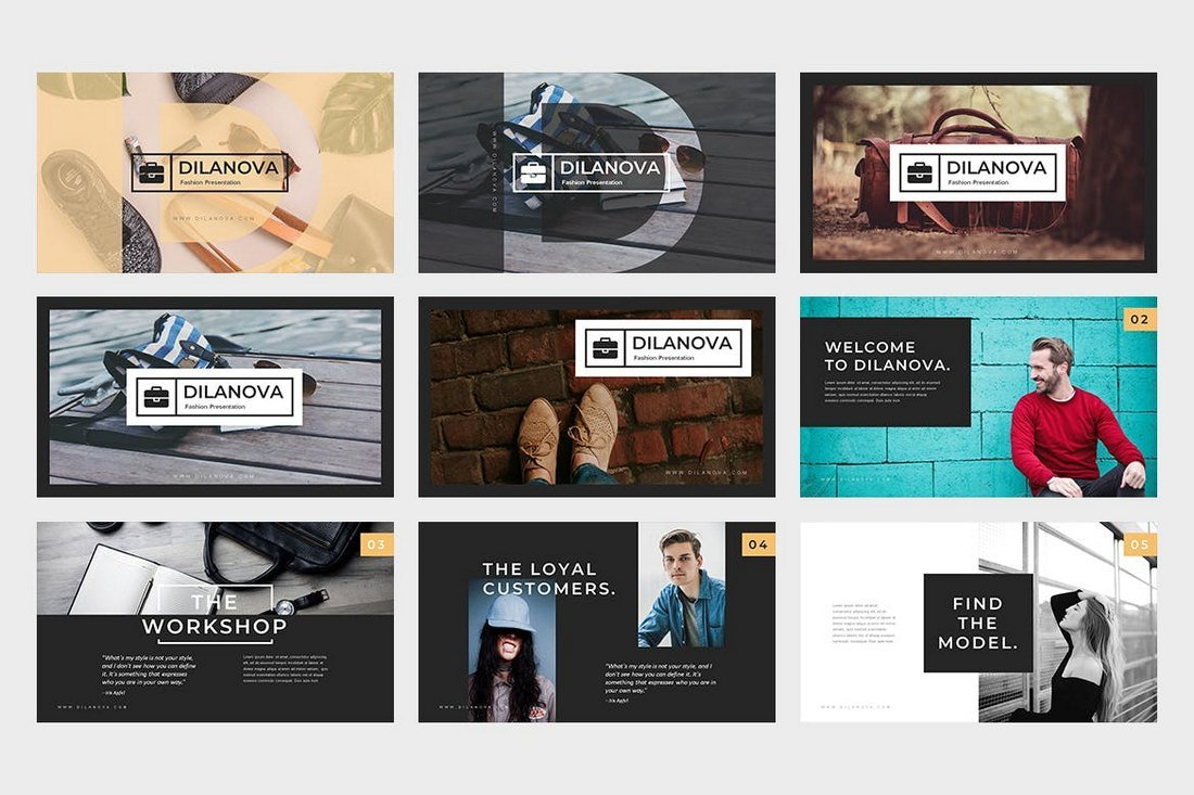 Dilanova-Cool-Fashion-Powerpoint-Presentation 20+ Best Cool PowerPoint Templates design tips