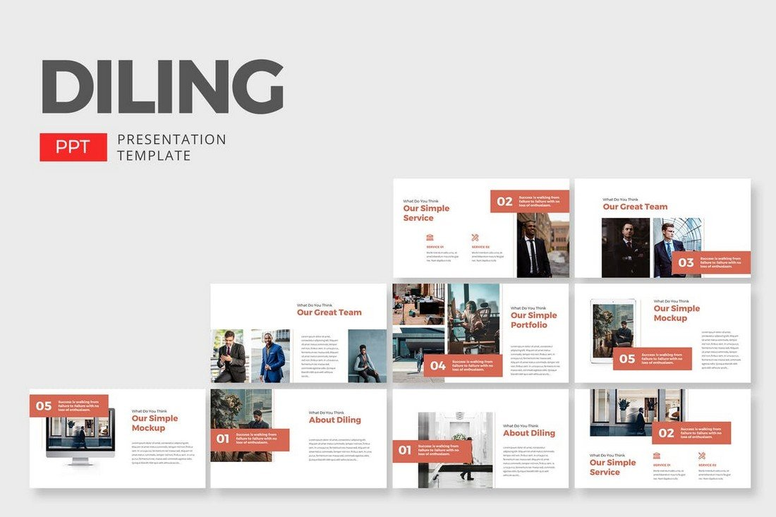 Dilling-Business-Corporate-PowerPoint-Template 30+ Best Business & Corporate PowerPoint Templates 2021 design tips