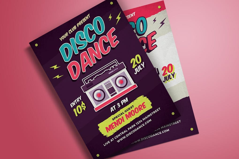 Disco-Dance-Poster-Flyer-1 20+ Best Club Flyer Templates design tips  Inspiration