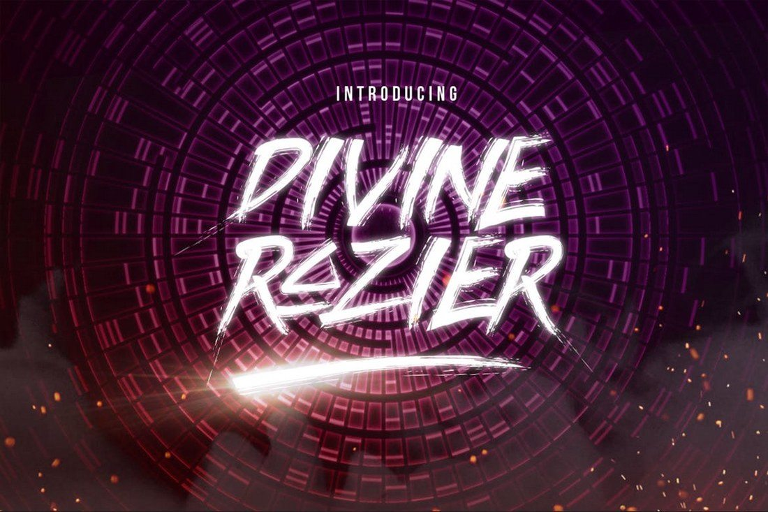 Divine-Razier-Font 30+ Best Modern & Futuristic Fonts 2021 design tips