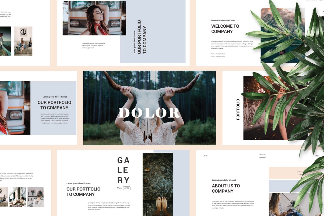 Dolor - Modern Keynote Presentation Template