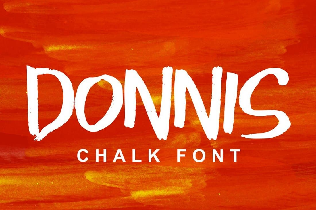 Donnis - Bold Chalk Font