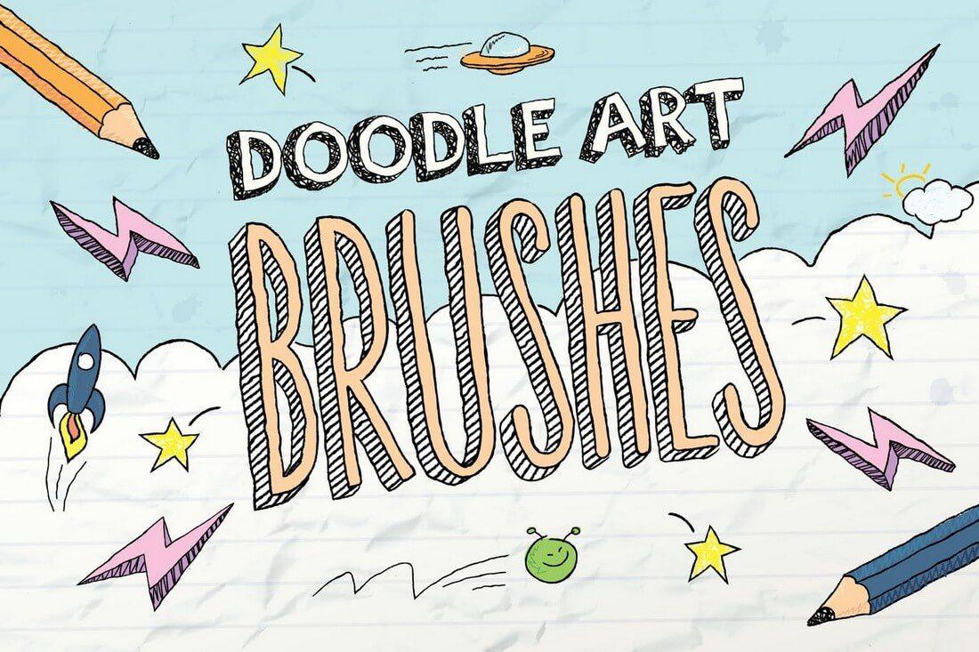 Doodle-Brushes 30+ Best High-Quality Photoshop & Illustrator Brushes design tips