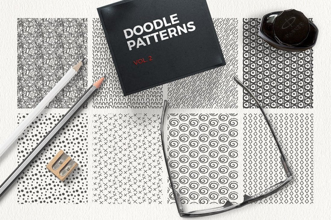 Doodle-Patterns 50+ Best Free Photoshop Patterns 2021 design tips