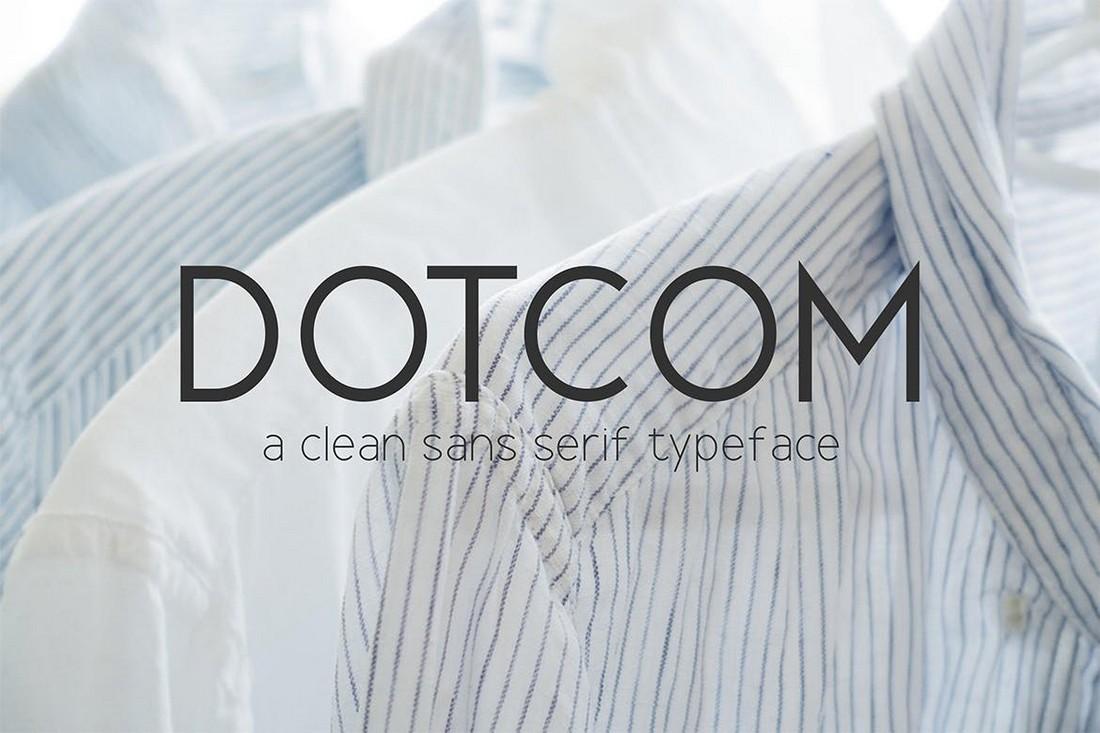 Dotcom - Clean Sans Font Family