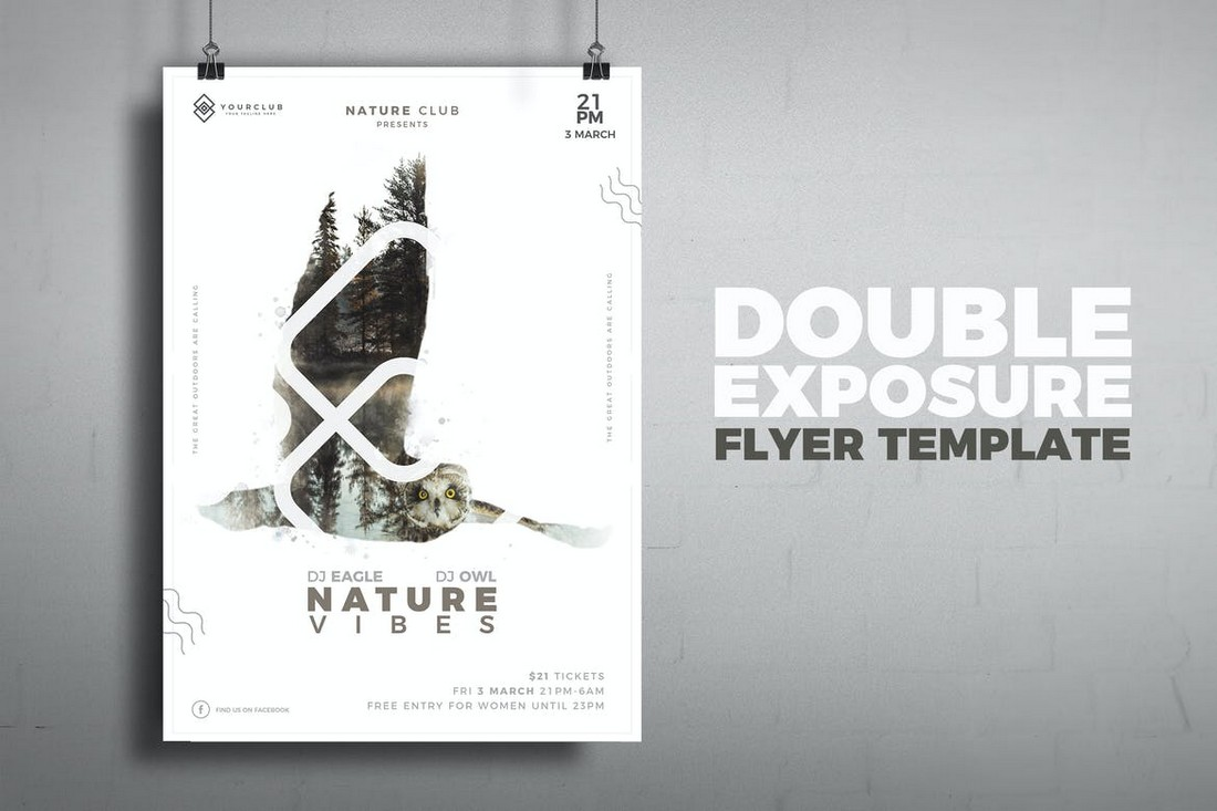 Double-Exposure-Poster-Template 10 Minimal Poster Design Examples (+10 Templates) design tips