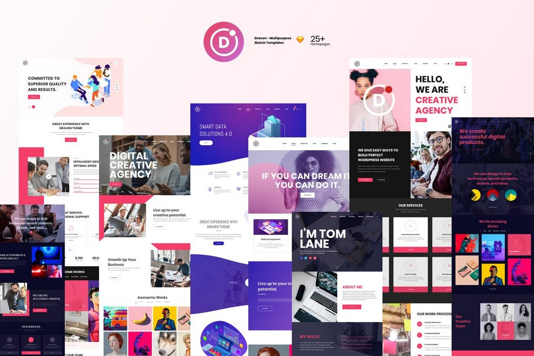 Draven-Multipurpose-Sketch-Templates 30+ Best Sketch Templates of 2019 design tips