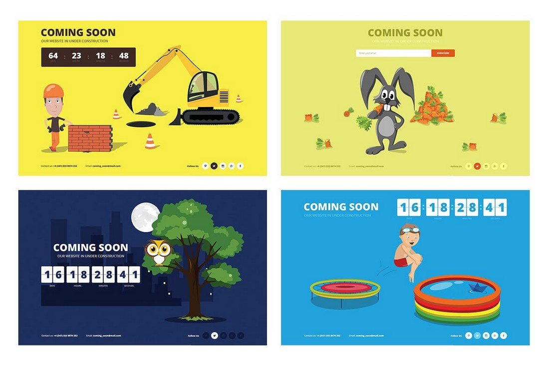 Drawer-Animated-Coming-Soon-Template 30+ Clean & Minimal Landing Page Templates design tips