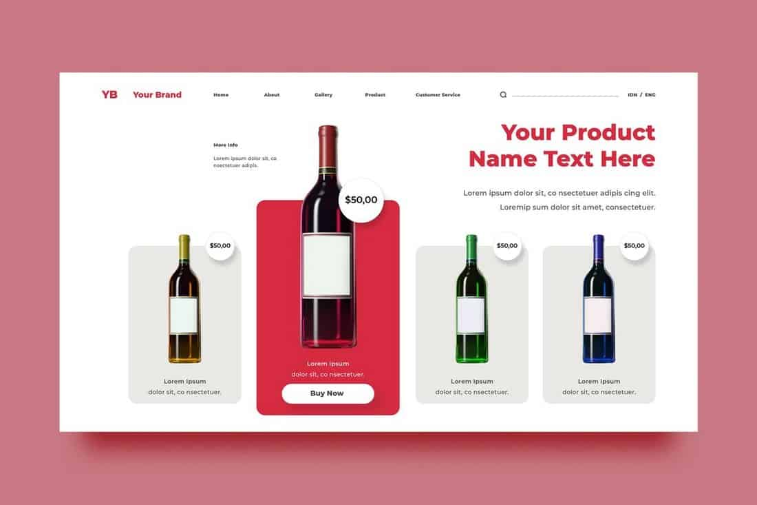 Drinks Website Background Template