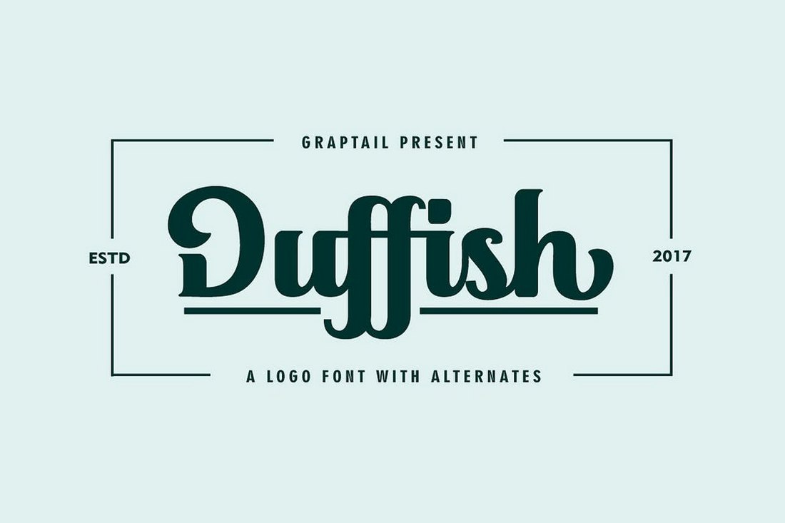 Duffish-Logo-Font 30+ Best Fonts for Logo Design design tips