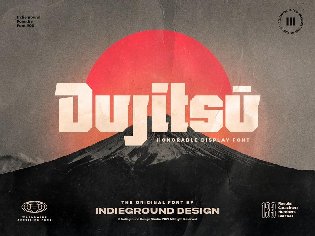 Dujitsu - Free Display & Titles Font