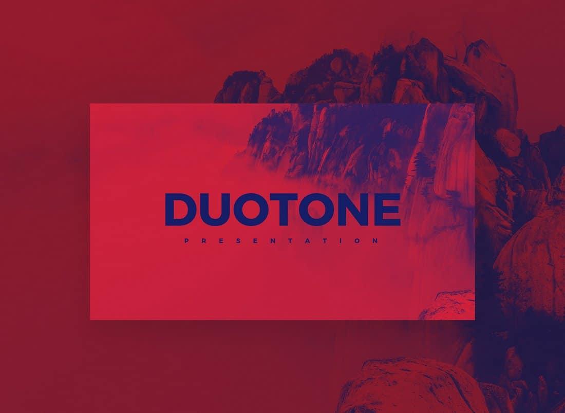 Duotone - Free Creatiave Keynote Template