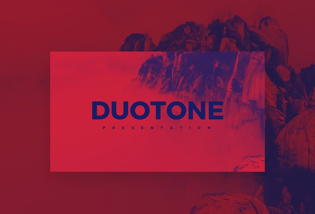 Duotone - Modern Free PowerPoint Template