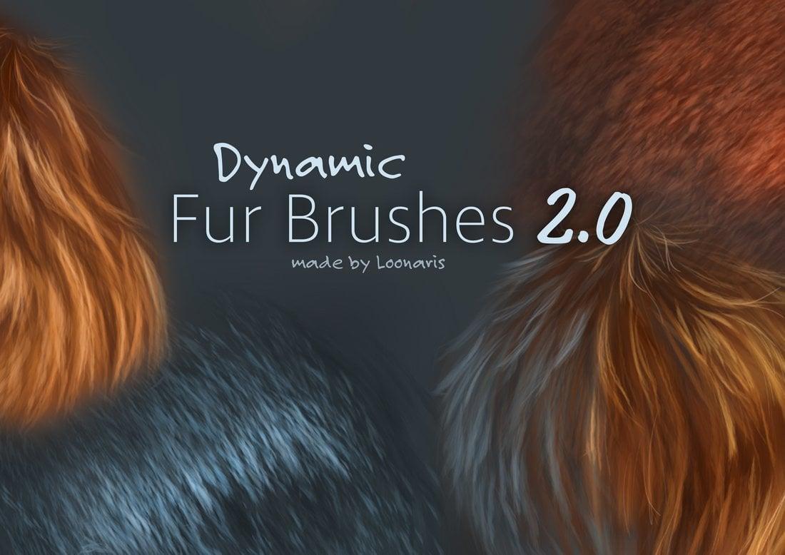 Dynamic Fur Free Photoshop Brushes