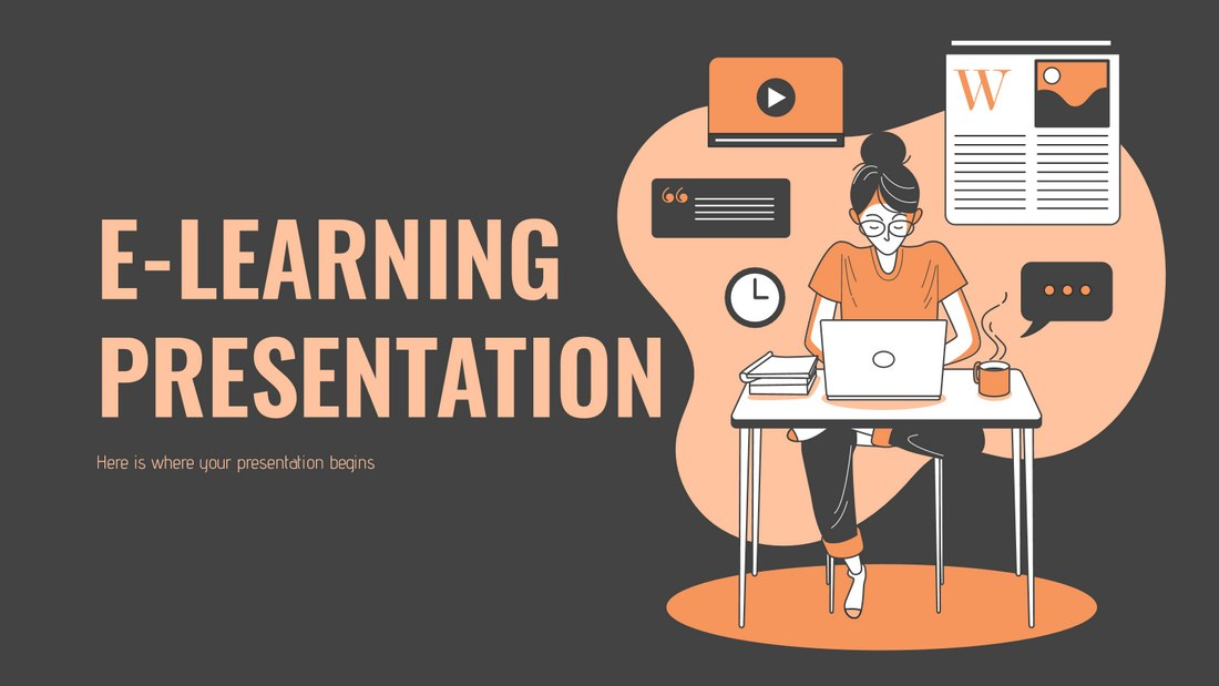 E-Learning Presentation - Free Powerpoint Template