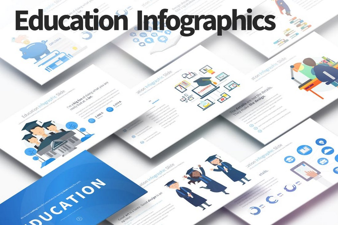EDUCATION - PowerPoint Infographics Slides