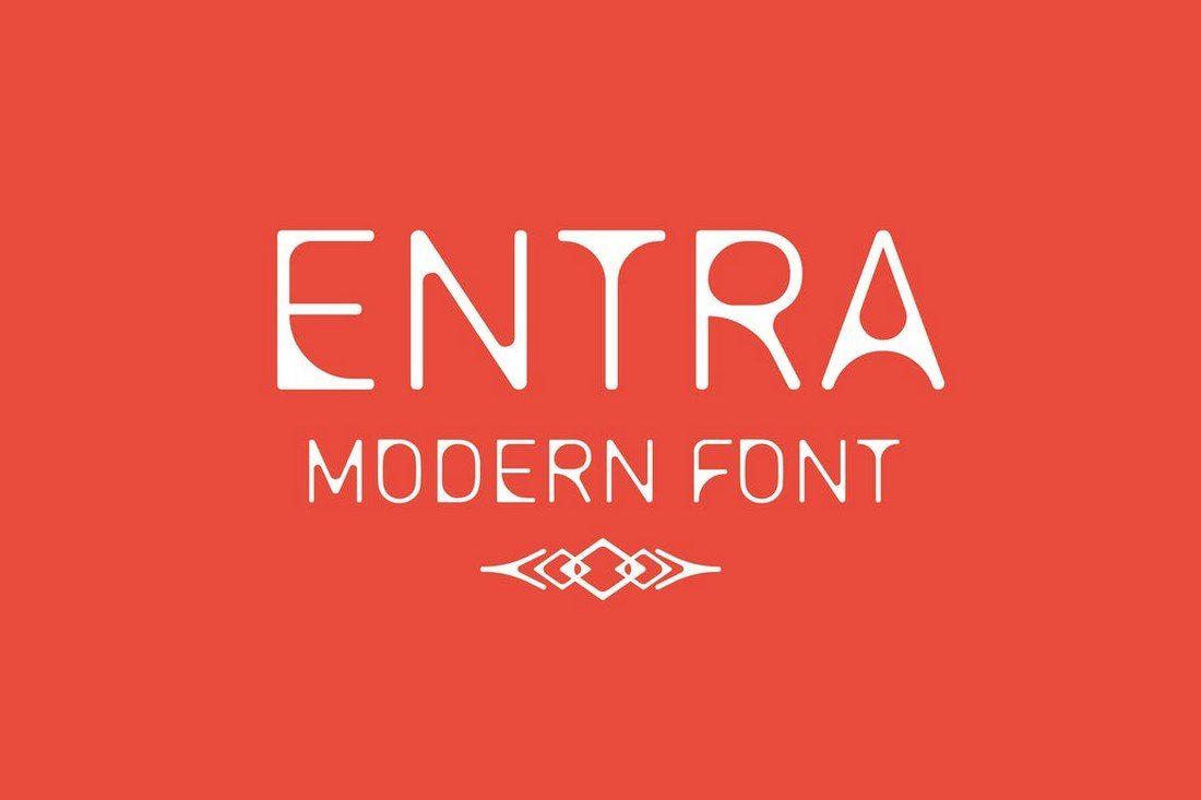 ENTRA-Font 30+ Best Modern & Futuristic Fonts 2021 design tips