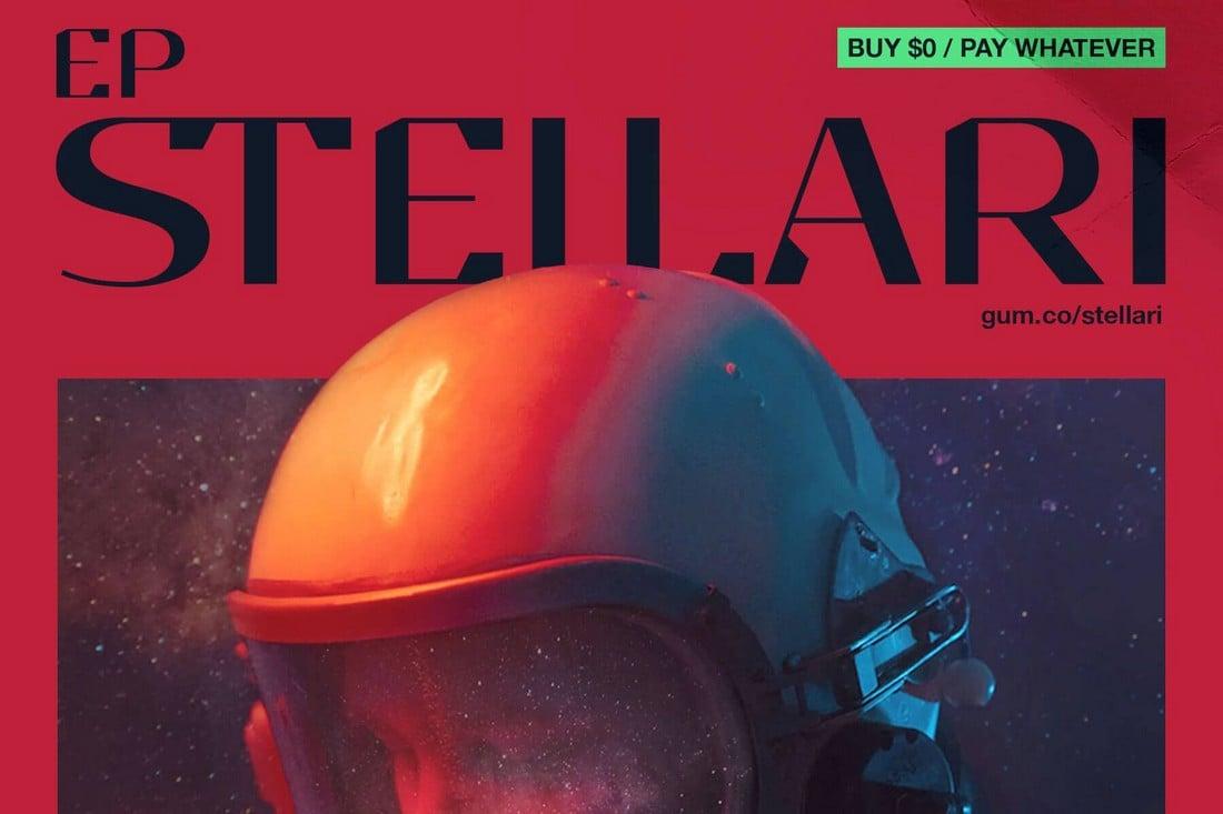 EP Stellari - Free Display Font