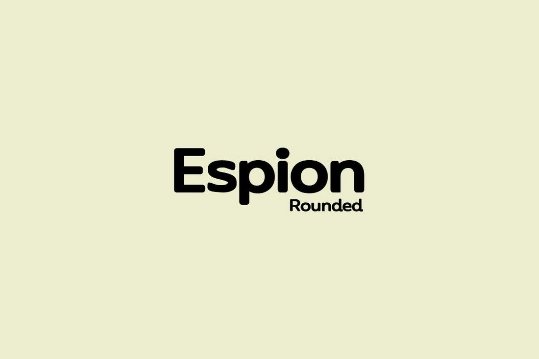 ESPION - Modern Rounded Font