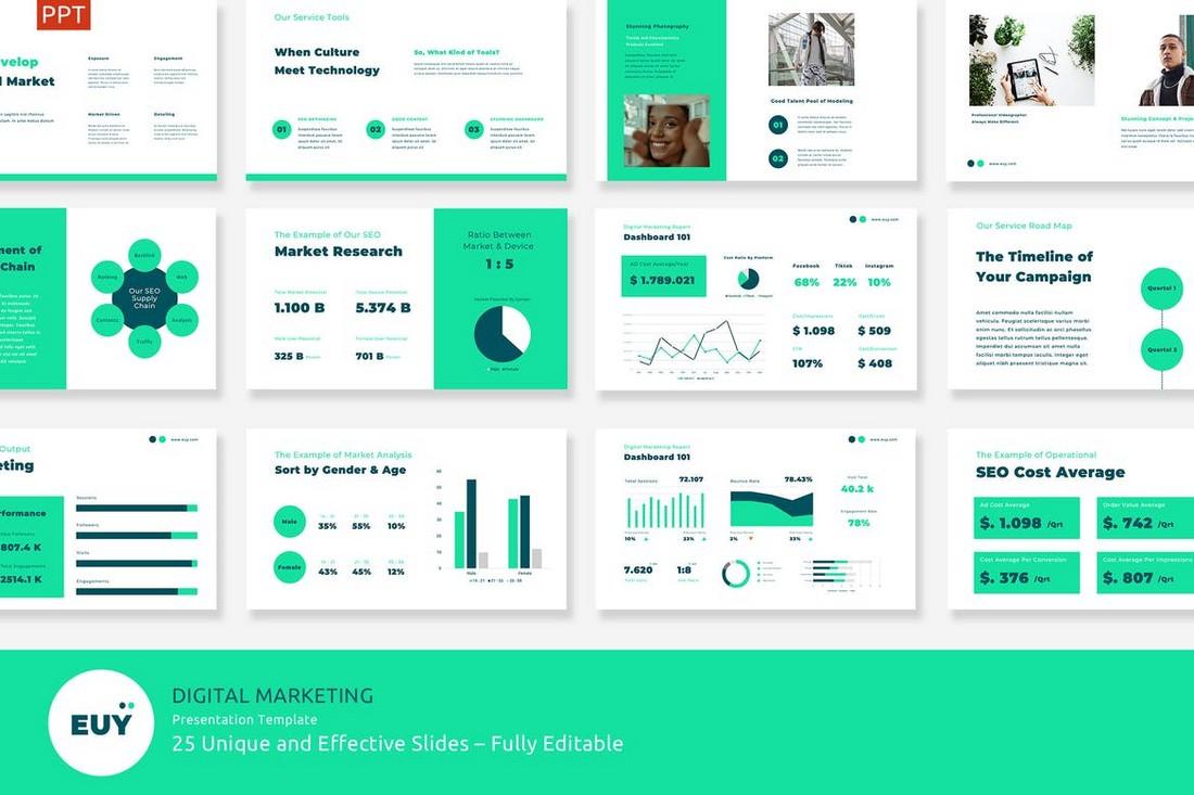 EUY - Digital Marketing Presentation Template