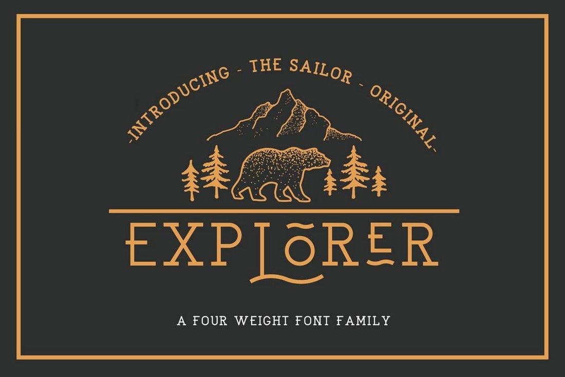 EXPLORER-Sailor-Original-Typeface 100+ Best Modern Serif Fonts design tips