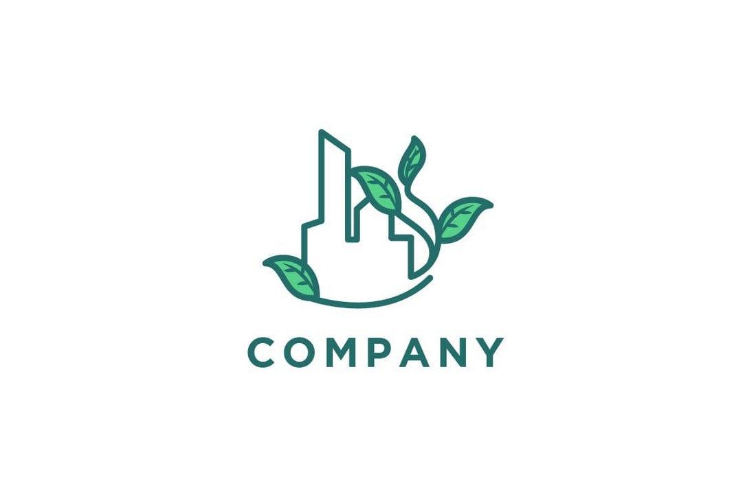 50 best minimal logo design templates design shack if youre working on a logo design for an environmentally friendly business or a brand this template will come in handy this editable logo template can be fbccfo Images