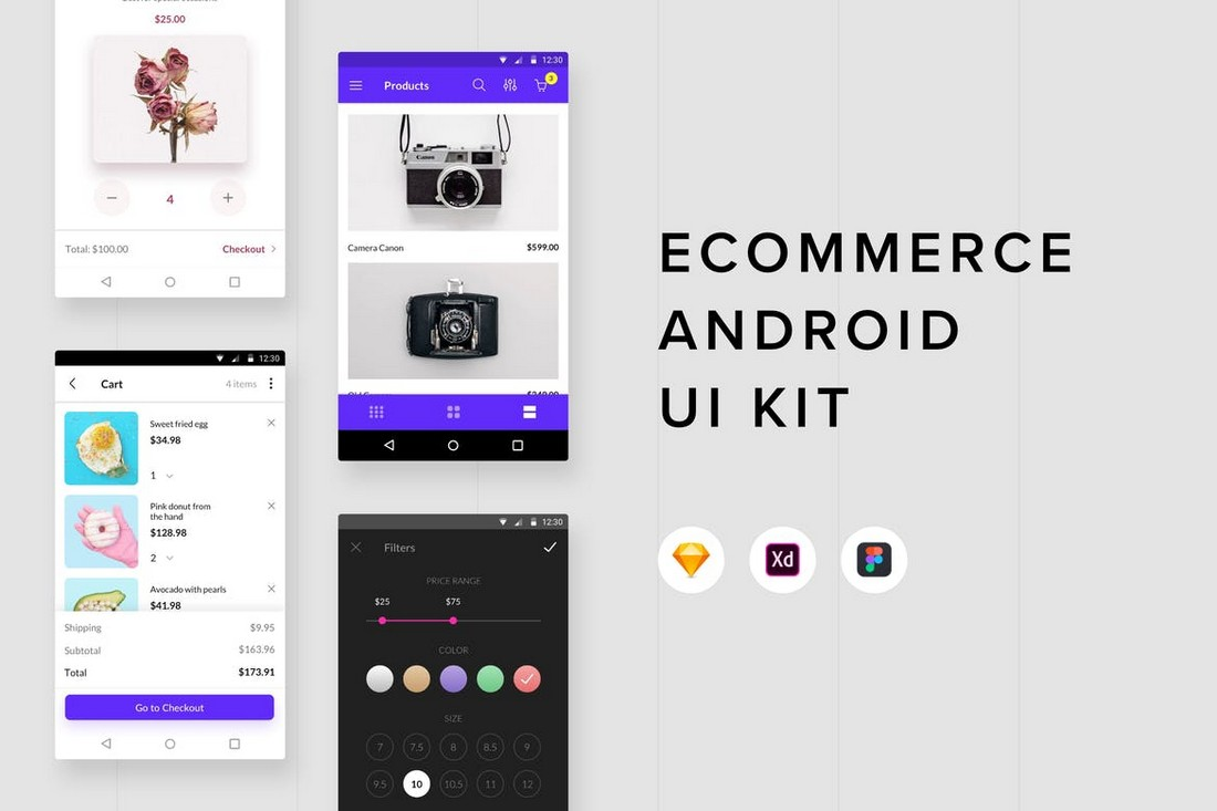 Ecommerce - Android UI Kit for Figma