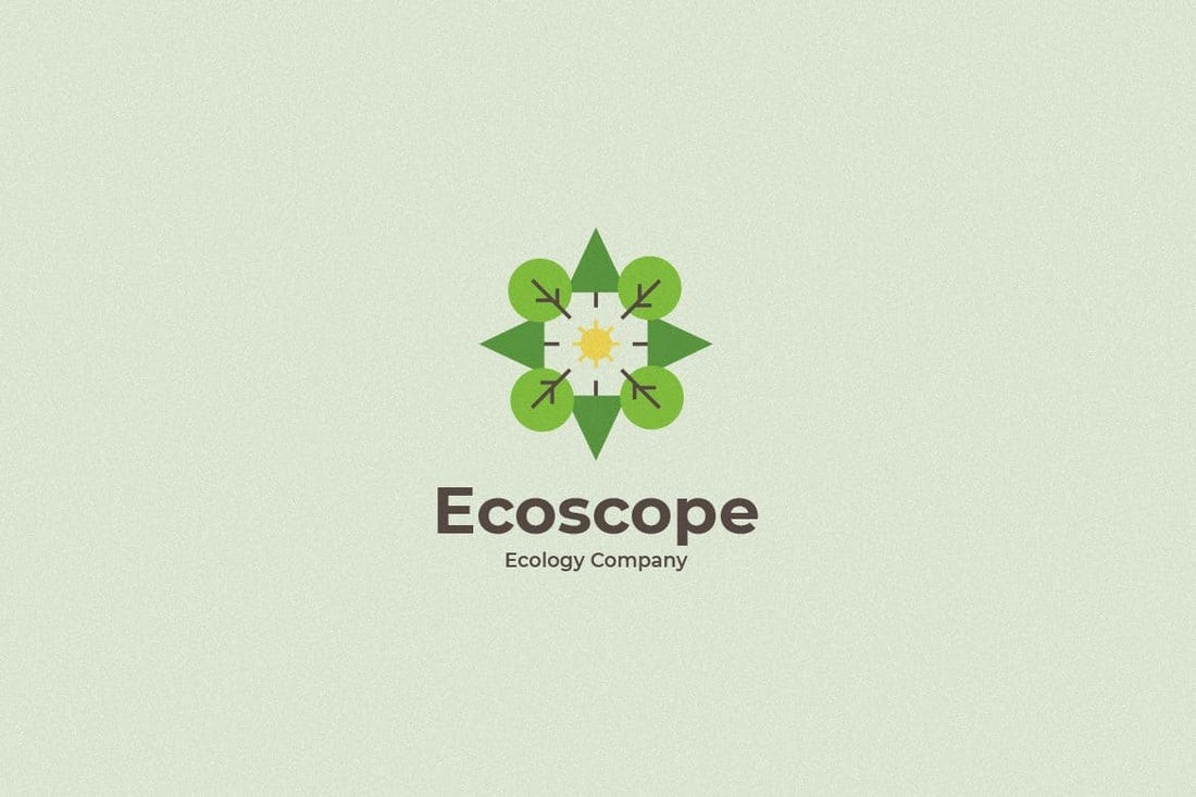 Ecoscope-Logo-Template 40+ Best Photoshop Logo Templates (PSD) design tips