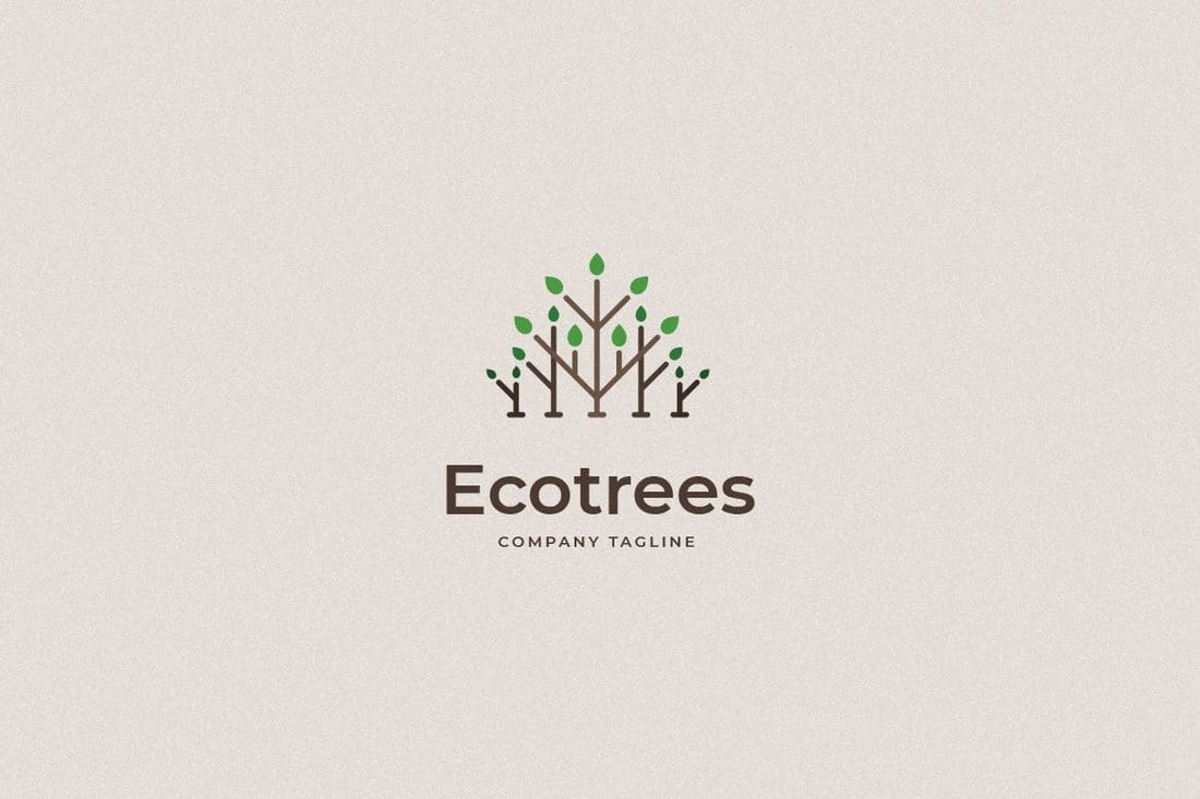 Ecotrees-Logo-Template 40+ Best Photoshop Logo Templates (PSD) design tips