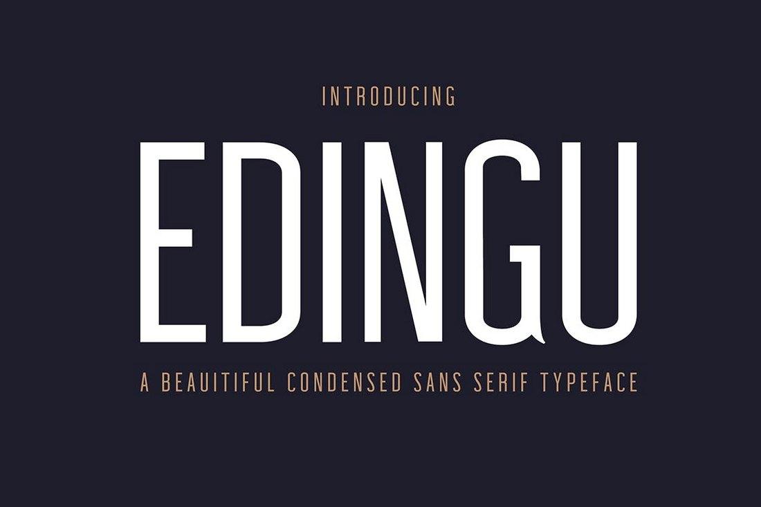 Edingu-Condesend-Sans-Serif-Font-Family 50+ Best Condensed & Narrow Fonts of 2020 design tips