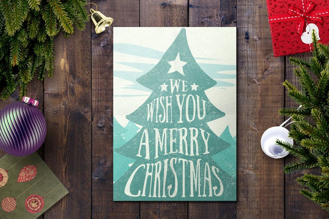 Editable Christmas Card Template