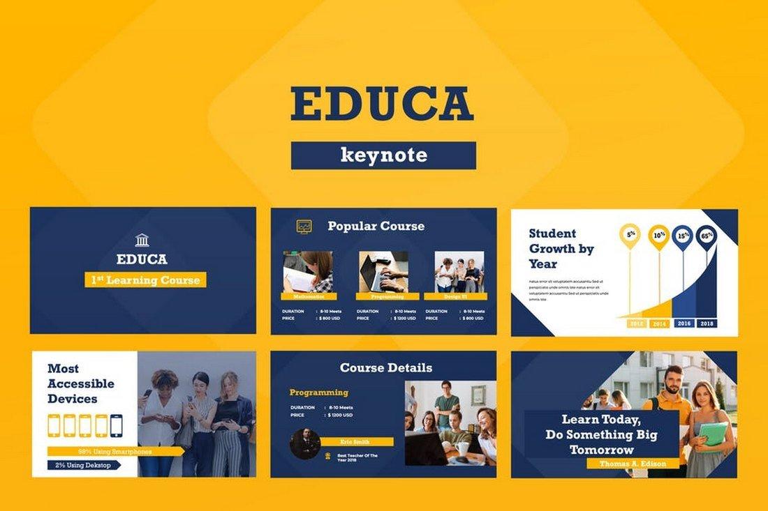 Educa-Keynote-Presentation-Template 50+ Best Keynote Templates of 2019 design tips
