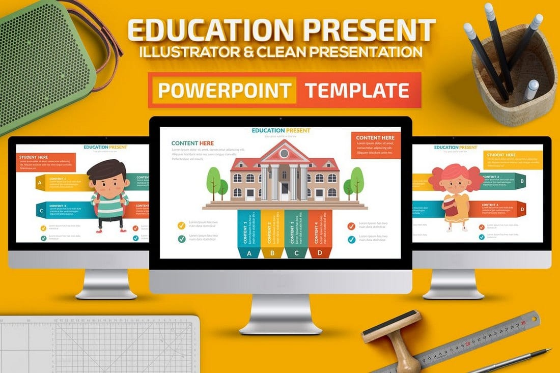 Education - Creative Powerpoint Presentation Template