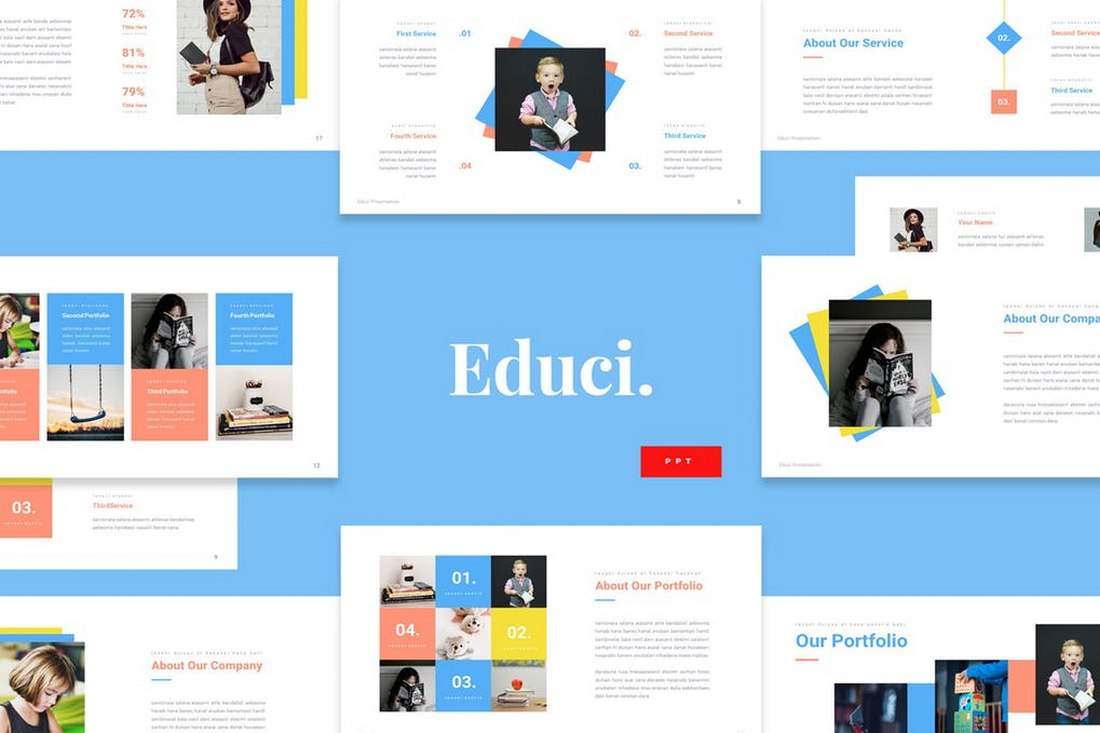 Educi - Children Education Powerpoint Template
