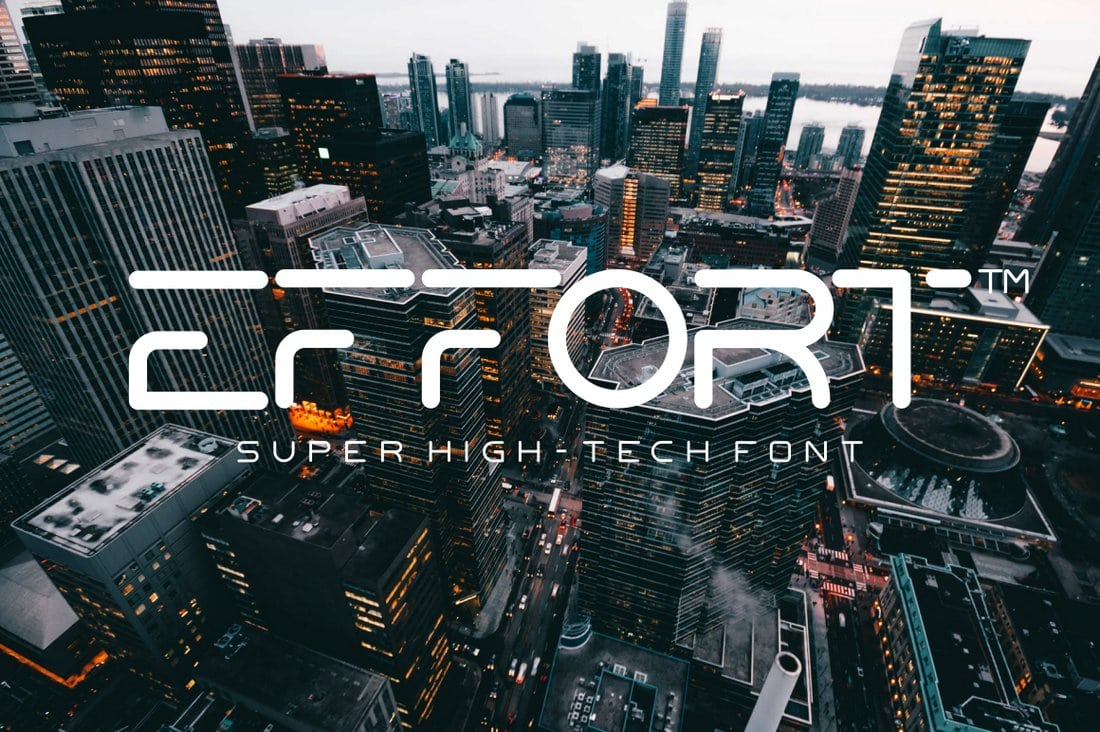 Effort - Free High-Tech Space Font