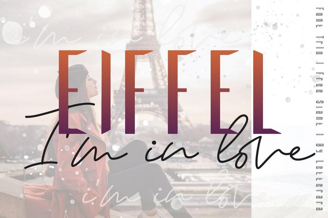 Eiffel in Love - Modern Font Trio