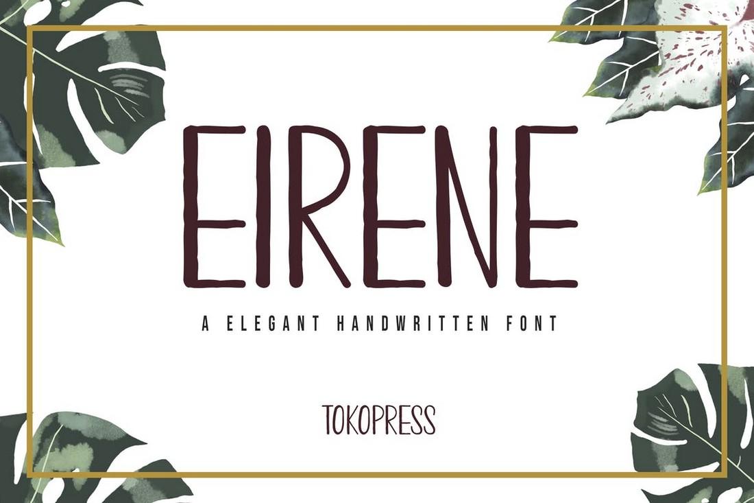 Eirene - Girly Narrow Handwritten Font