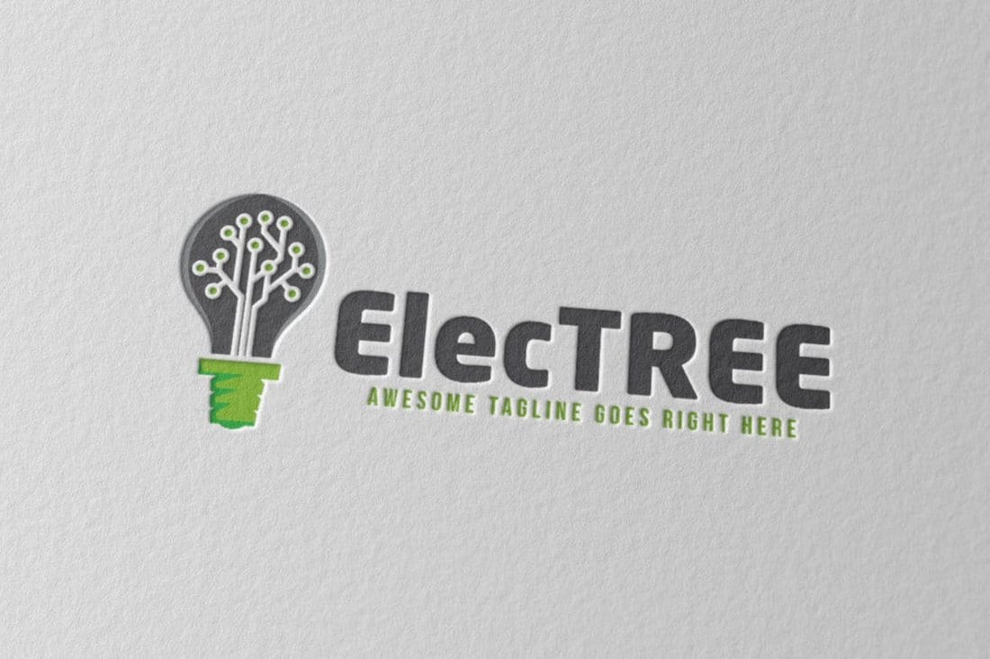 Electree-Logo-Template 40+ Best Photoshop Logo Templates (PSD) design tips