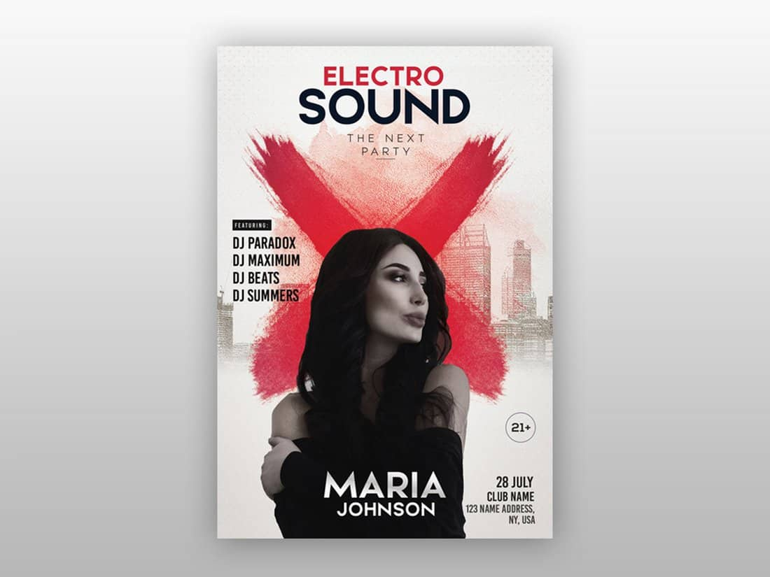 Electro Sound - Free PSD Flyer Template
