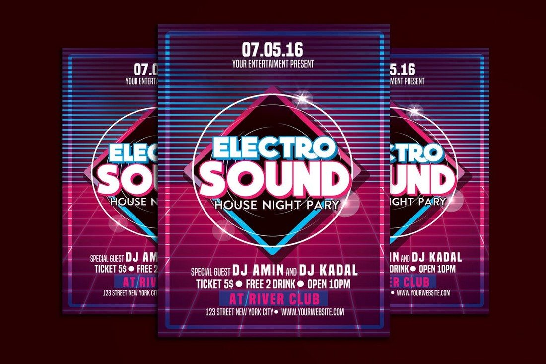 Electro-Sound-Music-Party 30+ Best Music & Band Flyer Templates design tips