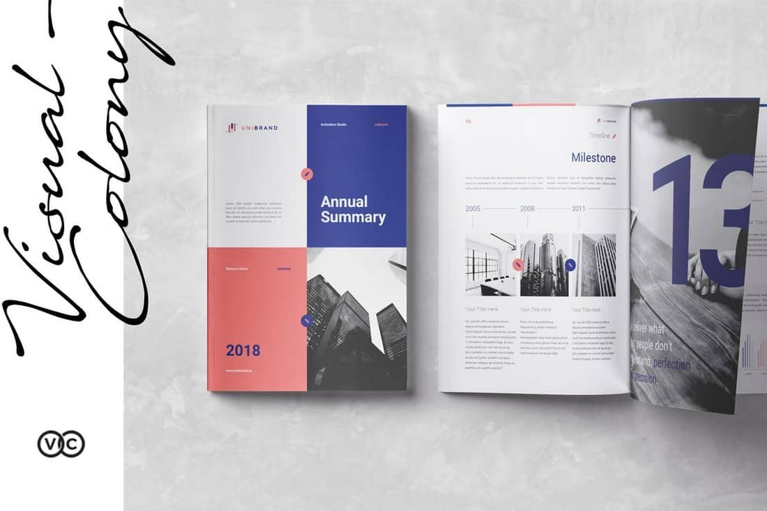 Elegant Annual Report InDesign Template