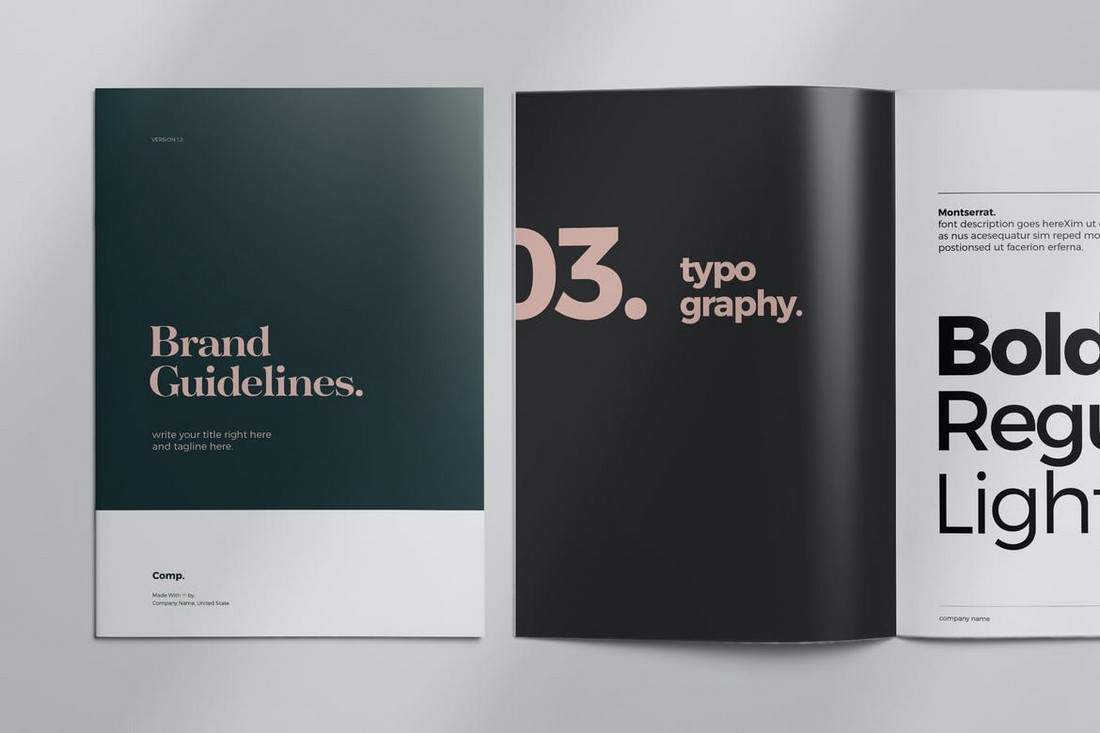 Elegant Brand Style Guide Layout Template
