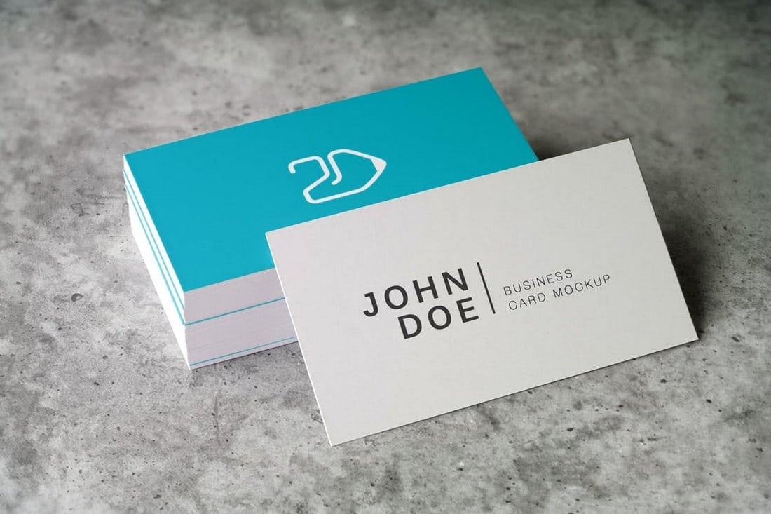 Corporate Creative Business Card PSD Mockup Templates Design - Business cards psd templates