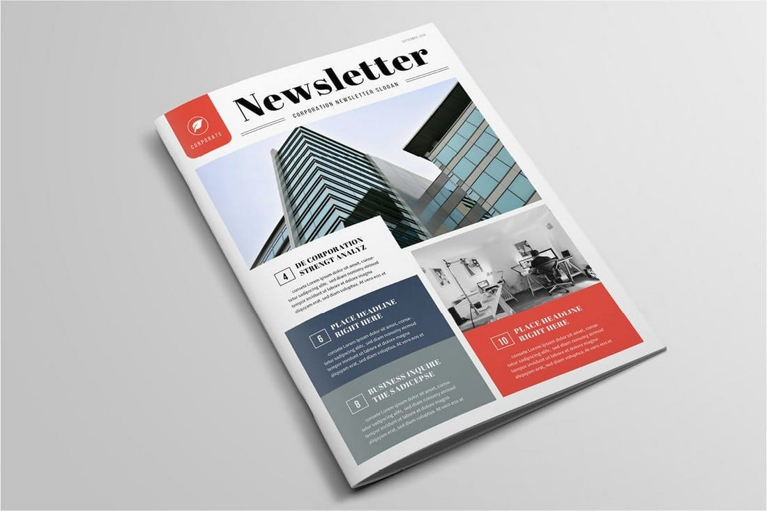 Elegant-Business-Newsletter-Template 20+ Best InDesign Newsletter Templates (Free & Premium) design tips  Inspiration