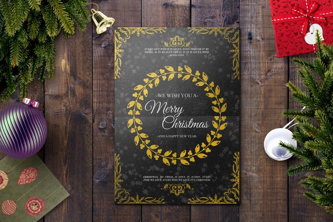Elegant-Christmas-Card-Template 20+ Best Christmas Card Templates for Photoshop design tips