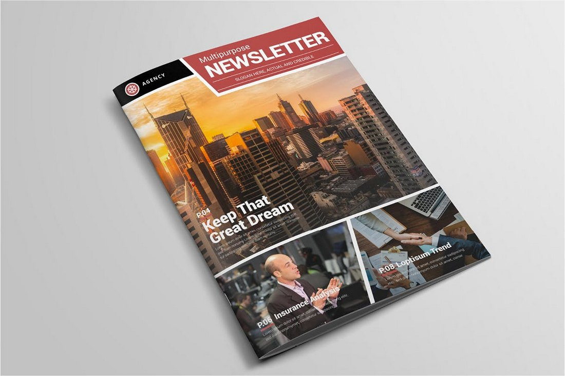 Elegant-Church-Newsletter-Template 20+ Church Bulletin & Newsletter Templates design tips