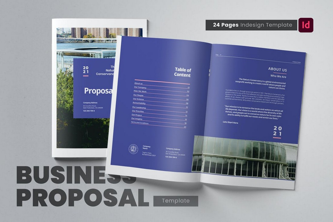 Elegant Company Profile & Proposal Word Template