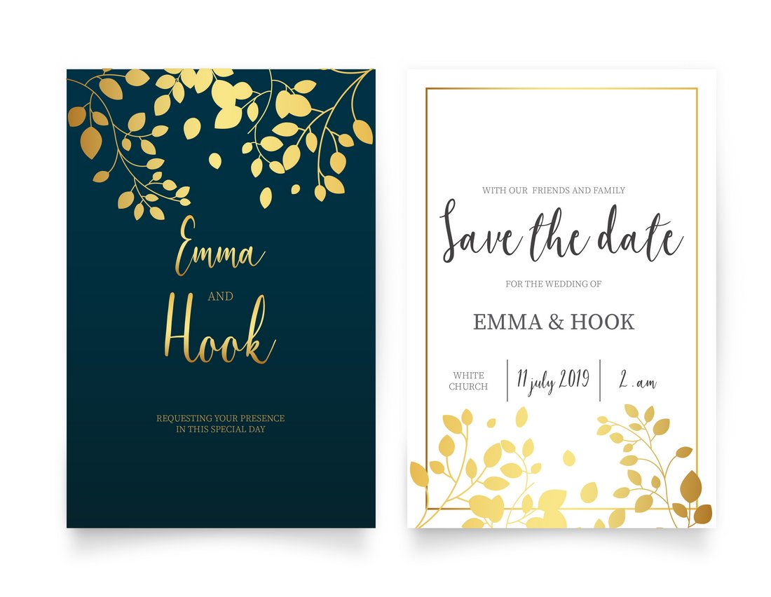 65+ Gorgeous Wedding Invitation Templates | Design Shack
