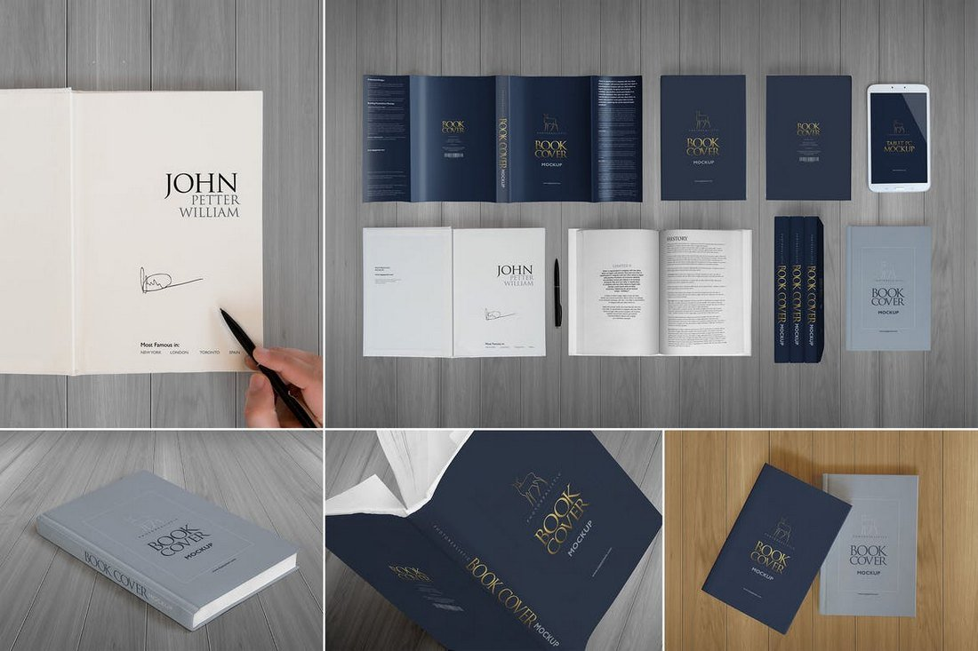 Elegant-Hardcover-Book-Cover-Mockup 20+ Best Book Cover Mockup Templates design tips
